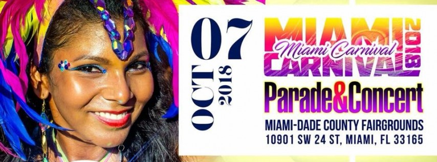 Miami Carnival Set for Sunday, October 7, 2018