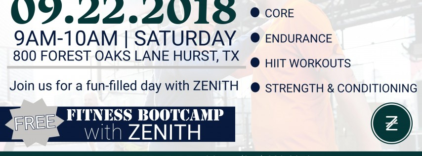 Fitness Bootcamp with ZENITH