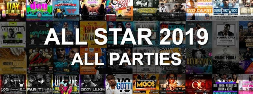 all star weekend 2019 all parties  charlotte nc