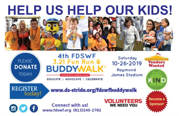 The 4th FDSWF 3.21 Fun Run & Buddy Walk