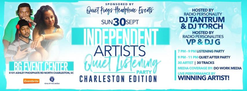 Independent Artists Quiet Listening Party - Charleston