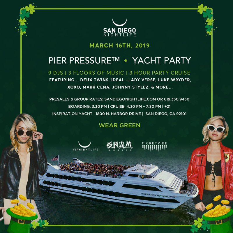 Green Electric St Paddy's San Diego Yacht Party Tickets