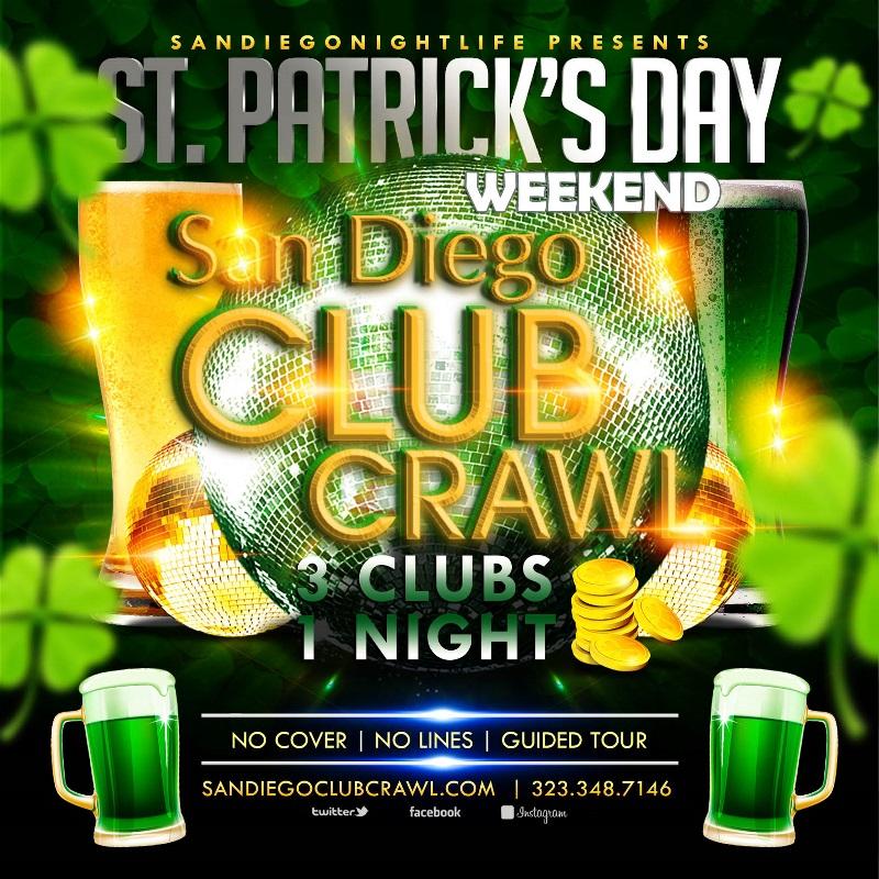 San Diego Club Crawl St Paddy's Saturday Tickets