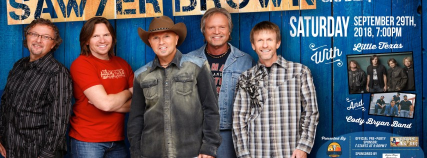 Sawyer Brown, Little Texas, and Cody Bryan Band presented by Big Star 101.5