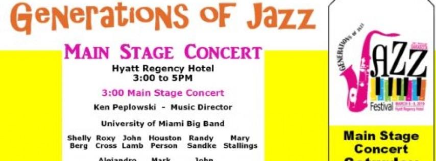 Sarasota Generations of Jazz Festival - Sat. Afternoon Main Stage Concert