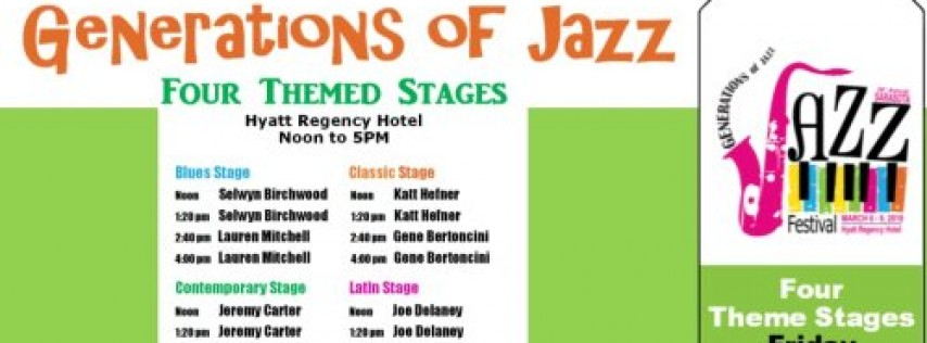 Sarasota Generations of Jazz Festival - Friday Afternoon 4 Theme Stages