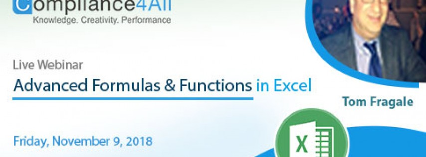 Advanced Formulas & Functions in Excel 2018 to 19