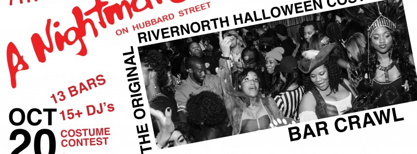 River North Halloween Bar Crawl - A Nightmare on Hubbard Street