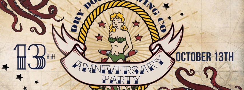 Dry Dock's Lucky 13 Anniversary Party First Mate Ticket