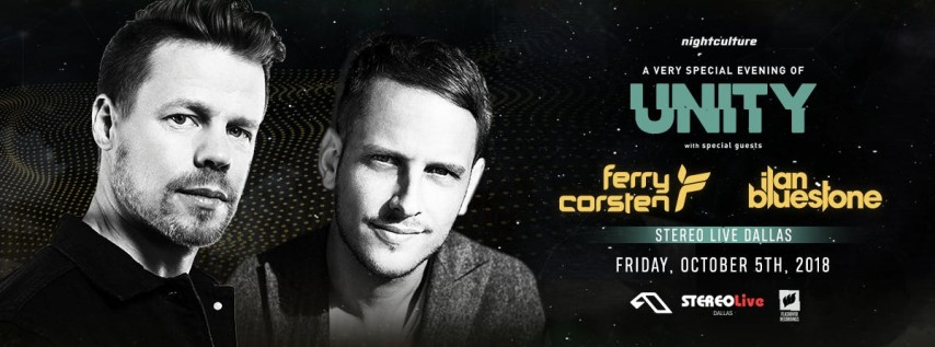 A Night Of Unity with Ferry Corsten & Ilan Bluestone - Dallas