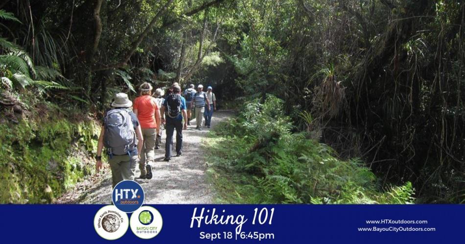 BCO & HTXO present: Hiking 101 (live)