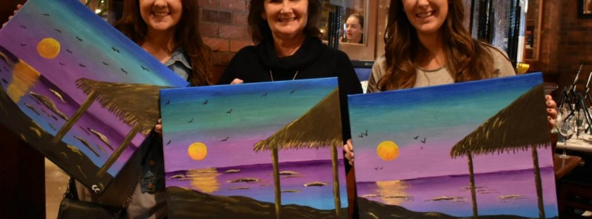 Wine & Canvas Painting Class: Wind 'n' Sea