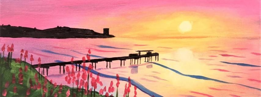Wine & Canvas Painting Class: La Jolla Sunset