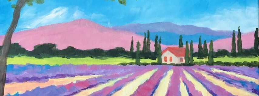 Wine & Canvas Painting Class: Lavender Fields