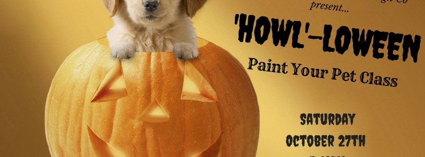 'Howl'-loween' Paint Your Pet Class