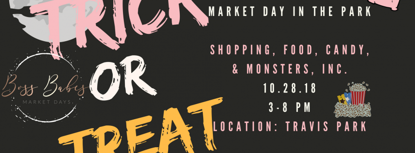 Halloween Market Day in the Park with Monster Bash