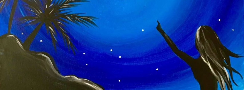 Wine & Canvas Painting Class: Midnight Mermaid
