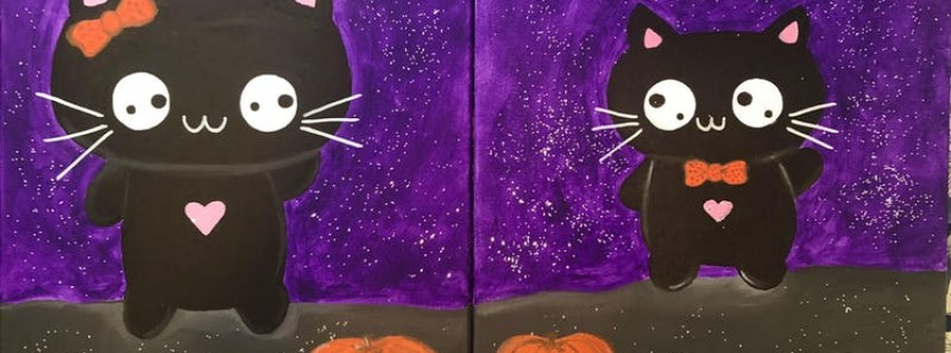 Painting Cute Halloween Cats!