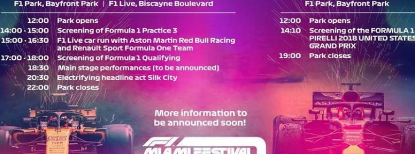 F1 FESTIVAL MIAMI 2018
