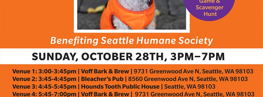 BarkHappy Seattle: Howl-O-Ween Pup Crawl