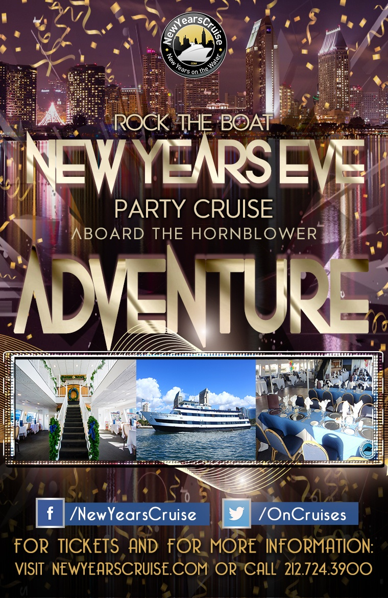Rock the Boat: New Year's Eve Party Cruise Aboard The Hornblower Adventure Yacht