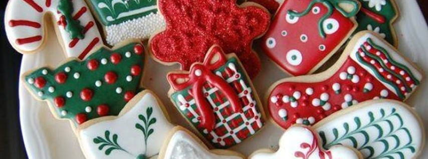 Winter and Christmas themed cookies baking class!