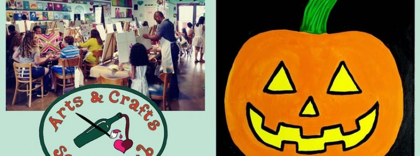 FAMILY Painting Class - 'Halloween jack-o'-lantern'