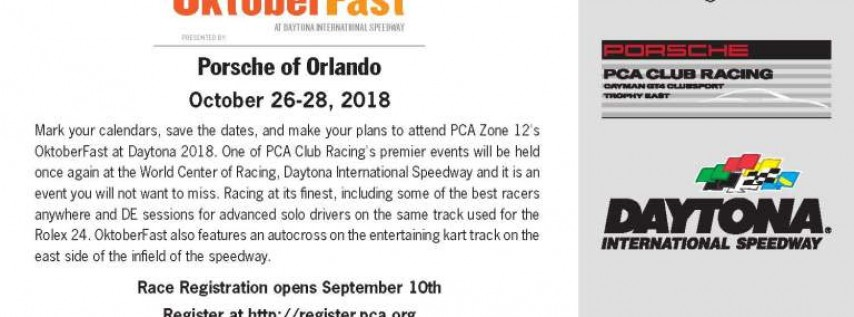 OktoberFast - 11th Annual Porsche Club of America Daytona Club Race