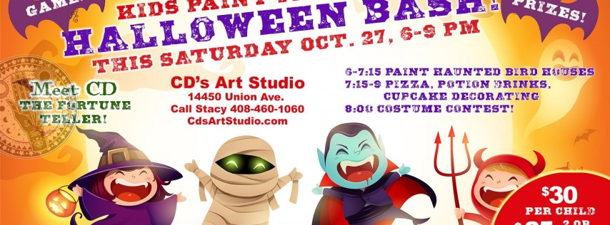 Kids Halloween Paint and Halloween Bash
