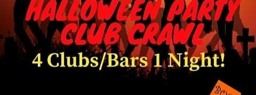 Halloween Club Crawl + 2 Free shots + 4 bars/clubs = 1 price