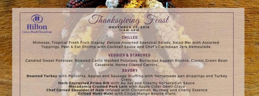 Thanksgiving Buffet at Hilton Cocoa Beach Oceanfront