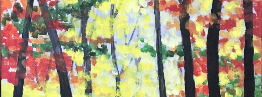 Wine & Canvas Painting Class: Step Into Fall