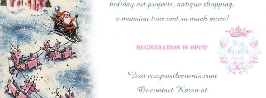 Cozy Castle Christmas Art Retreat Weekend