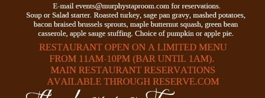 Thanksgiving Eve at Murphys