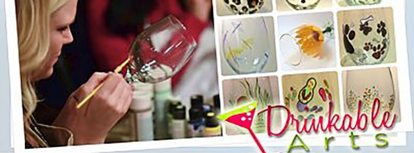 Glass Painting Party at Pour Yours Wine Bar!