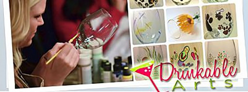Glass Painting Party at A Taste for Wine@