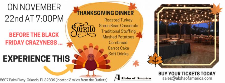 Sofrito Thanksgiving Dinner