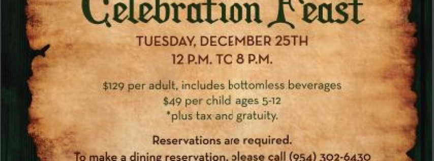 Christmas Celebration Feast - Burlock Coast Seafare & Spirits