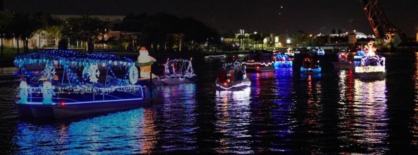 Tampa Riverwalk Holiday Boat Parade of Lights 2018