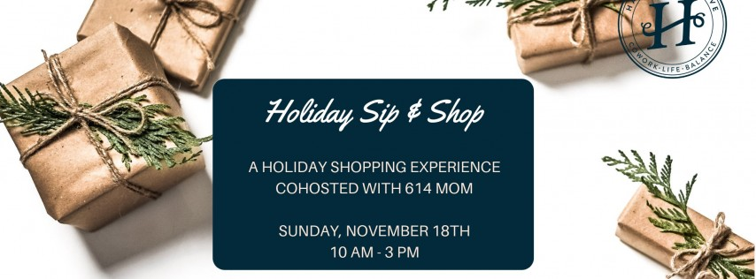 Holiday Sip + Shop