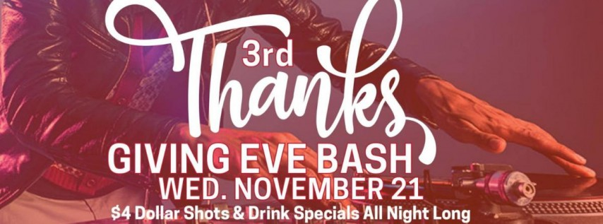 3rd Thanksgiving Eve Bash at Liam Fitzpatrick's