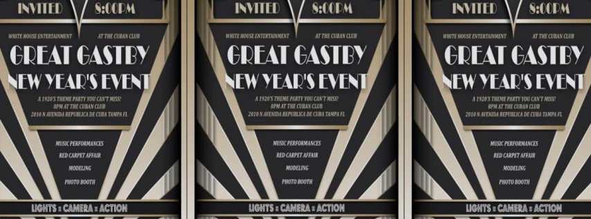 Tampa Great Gatsby New Year's Party
