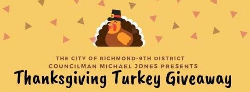 Councilperson Michael Jones Presents The 9th District Turkey Giveaway