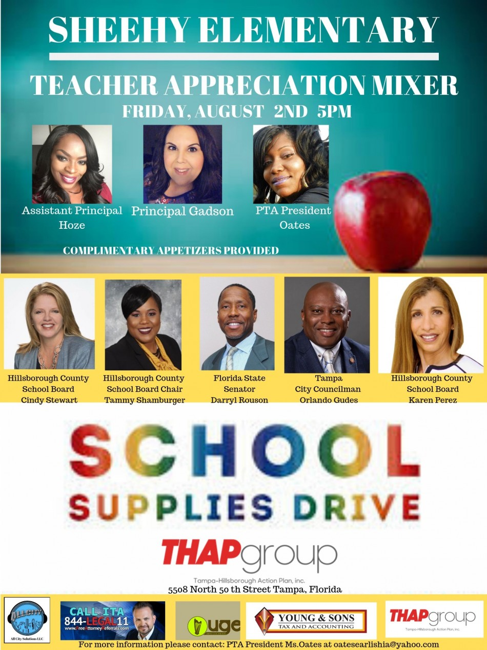 Sheehy Elementary Teacher Appreciation Mixer/School Supply Drive
