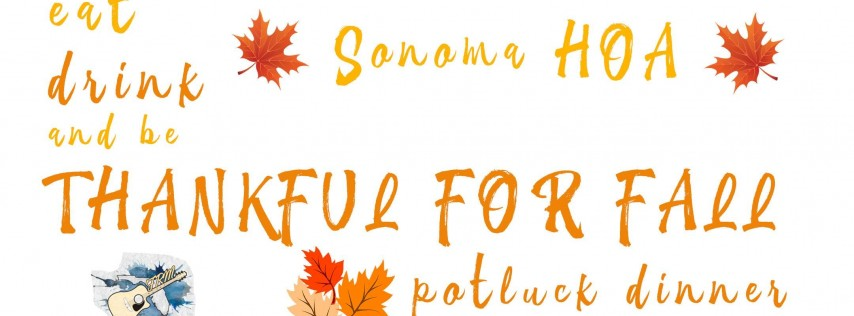 Thankful for Fall - Potluck Dinner