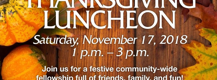 Hallelujah Holiday Meal - Thanksgiving Luncheon