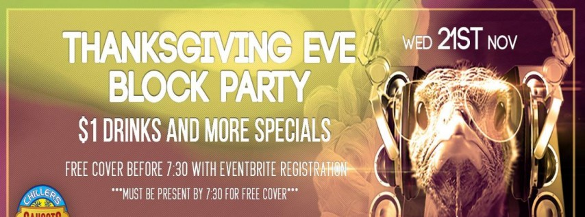 Thanksgiving Eve Block Party at Church St Bars