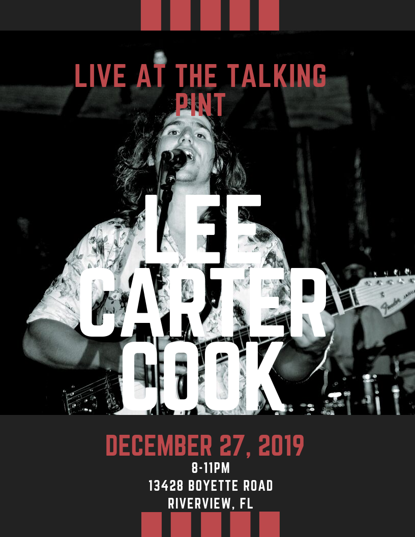 Lee Carter Cook LIVE at The Talking Pint