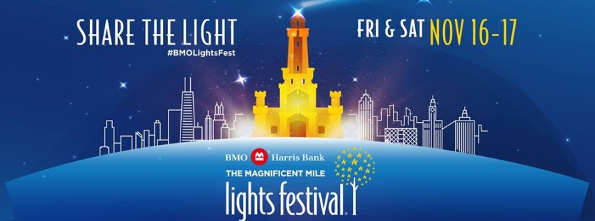 The BMO Harris Magnificent Mile Lights Festival
