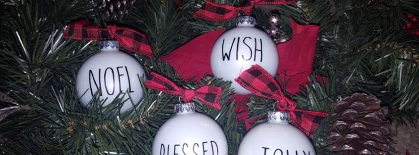 Rae Dunn DIY Ornaments